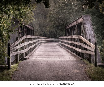 Repurposed Railroad Bridge - railroad bridge repurposed into bike trail bridge
