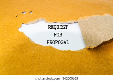 Request for proposal text  on brown envelope
