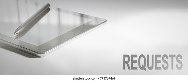 REQUESTS Business Concept Digital Technology. Graphic Concept.