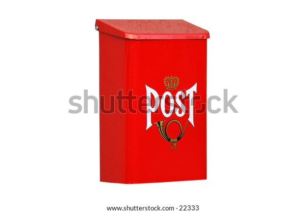 Res mailbox, isolated over white