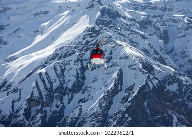 Rescue helicopter in Annapurna basecamp, Nepal