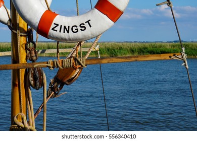 Rescue ring | Sailing ship | Baltic Sea | Zingst | Germany