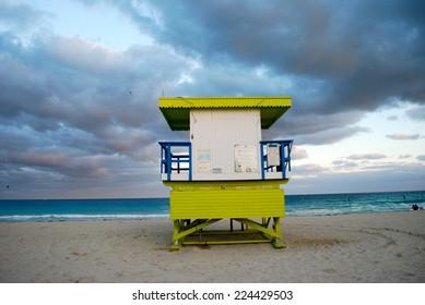 rescue tower in miami beach