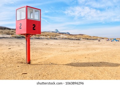 Rescue tower on the beach of Juist, Germany