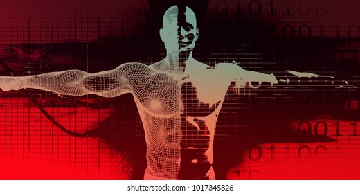 Research and Development on Body Science Healthcare as Concept 3D Render