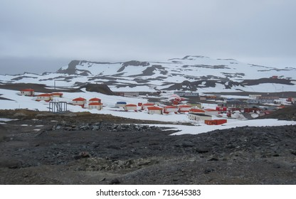 Research station on the King George Island, Antarctica