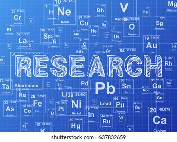 Periodic table images stock photos vectors shutterstock research word on periodic table symbols blueprint background urtaz Choice Image