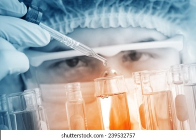 Researcher working in the laboratory.