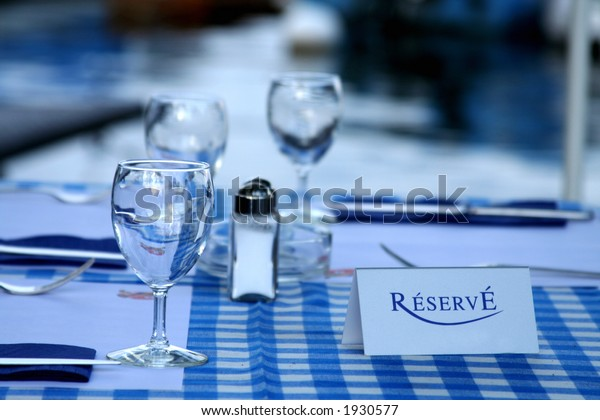Reservation Card on a Table