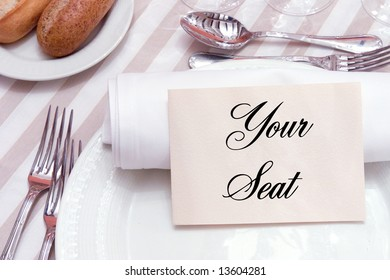 Reservations at a restaurant