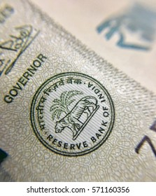 Reserve bank of India  logo in new Indian 500 rupee currency notes