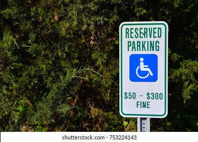 Reserved parking for handicapped only sign.