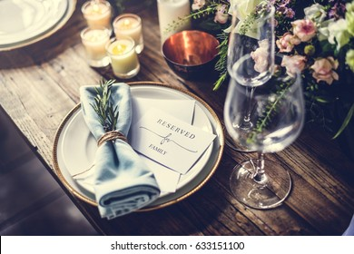 Reserved service elegance luxury party