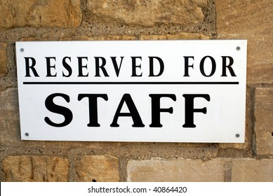 Reserved for staff sign