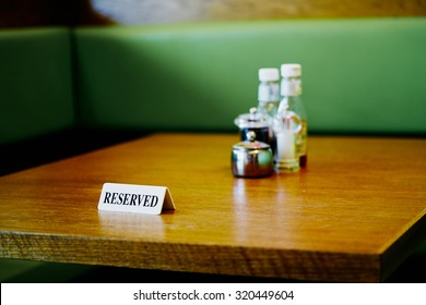A reserved table at a cafe in south London.