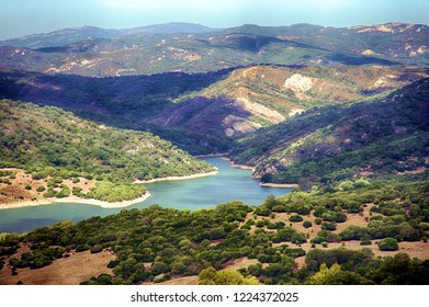 Reservoir of Castellar inside of the Natural park Los Alcornocales in Cadiz, Spain.
