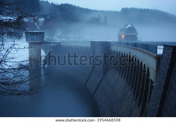 Staudamm in Olpe im Sauerland
