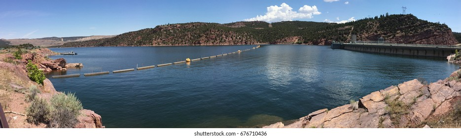 The reservoir in Flaming Gorge National Recreation Area, Utah
