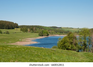 Reservoir in the Harz mountains in Germany