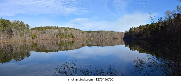 Reservoir lake in Big Hill Pond State Park Tennessee