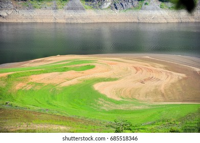 The reservoir was low after the long drought.