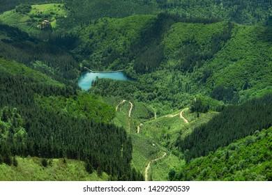 Reservoir of Zollo in Nature from Ganekogorta