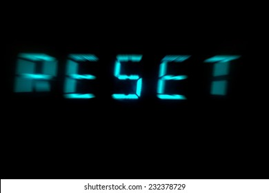 Reset LCD display with motion blur