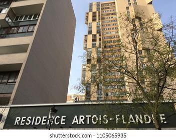 Residence Artois - Flandre Ave de Flandre 19Th Arr. Paris France . December 10 2017