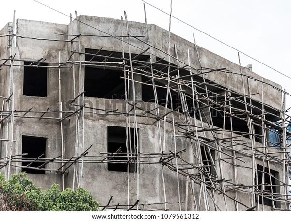Residence House Under Construction Addis Ababa Stock Photo