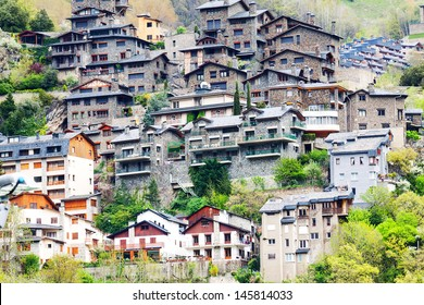 Residence houses at Pyrenees mountains. Andorra la Vella,  Andorra