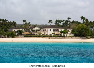 Residences as seen from a catamaran off the coastline of Barbados
