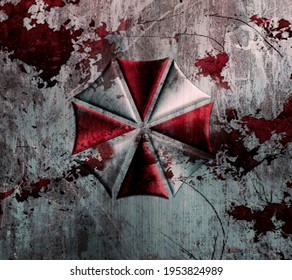 Resident Evil Umbrella Bloody Logo