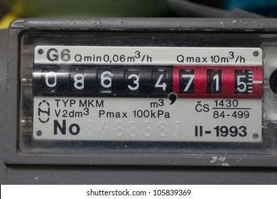 Residental meter for natural gas