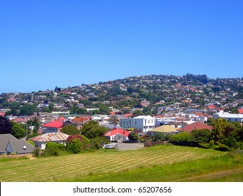 Residential Architectural Styles across Hill in Dunedin, South Island, New Zealand