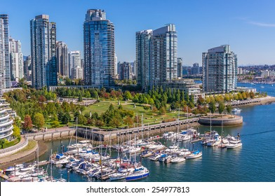 Residential area in Downtown Vancouver, British Columbia, Canada.