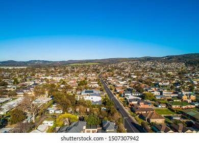 Residential area of Dromana on Mornington Peninsula, Australia - aerial view