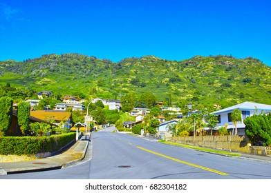 Residential area of Hawaii Hawaii Kai