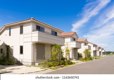 Residential area image blue sky