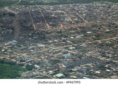 residential area in Lagos nigeria aerial view