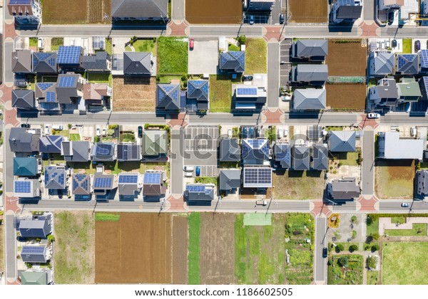 Residential areas. Aerial view.