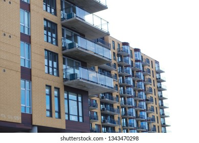residential balconies apartment building facade modern condominium