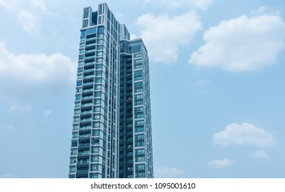 Residential Building, Apartment Building Exterior, Apartment Complex with Windows, Building Face, High Rise Buildings,condominium in Bangkok Thailand