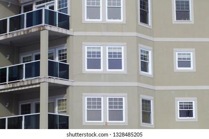 residential building apartment facade windows balcony