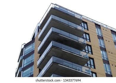 residential building corner modern apartment balcony condo