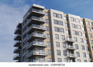 residential building modern apartment condominium architecture