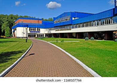"Residential building of the sanatorium. Russia, Moscow oblast, a village Aksakovo, Mytishchi district, July 18, 2014, sanatorium ""Podmoskovie"""