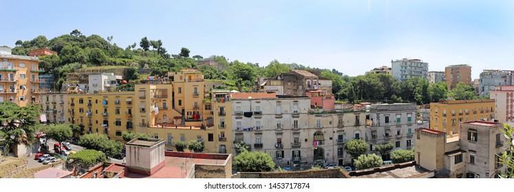 Residential buildings architecture inside Naples city centre