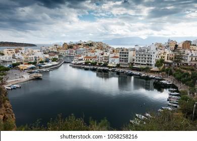 Residential buildings by sea, Nikos Agiolaos, Crete, Greece