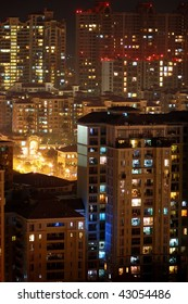 The residential buildings in night