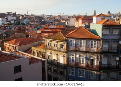 Residential buildings in the old part of Porto - Portugal.